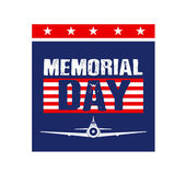 Memorial Day Card image. — Stock Vector