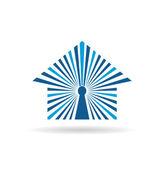 Open house image. Key hole house concept logo — Stock Vector