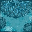 Blue  Indian ethnic ornament - Imagens vectoriais em stock
