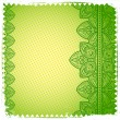 Green Lace ornament — Stock Photo