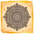 Royalty-Free Stock Vektorový obrázek: Beautiful Indian ornament with vintage background