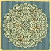Beautiful Indian ornament — Stock Vector