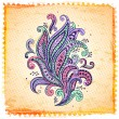 Beautiful color paisley ornament — Stock Vector