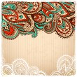 Stock Vector: Beautiful Vintage paisley