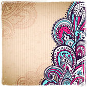Vintage paisley background — Stock Vector