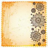 Vintage sunflower background — Stock Vector