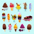 Ice cream icons — Stockvectorbeeld