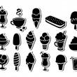 ijs pictogrammen — Stockvector