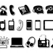 Phone icons — Stok Vektör #19592957