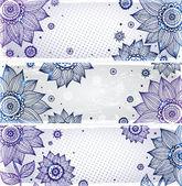 Sunflower bookmarks — Stock Vector