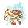 Stock Vector: Ethnic elephant