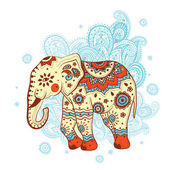 Ethnic elephant — Stockvector