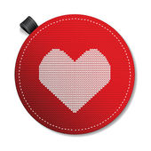 Valentine's knitted heart — Stock Vector