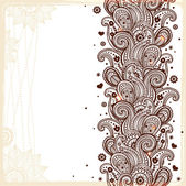 Schöne floral ornament — Stockvektor
