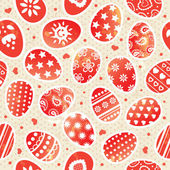 Easter pattern — Stock Vector