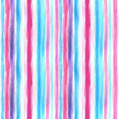 Akvarel vzor modré a růžové — Stock fotografie