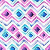 Akwarela niebieski i różowy wzór — Zdjęcie stockowe
