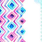 Akwarela niebieski i różowy tło — Zdjęcie stockowe