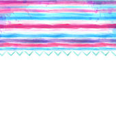 Watercolor blue and pink background — Stock Photo