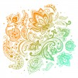 Beautiful paisley background — Stockvector #23908917