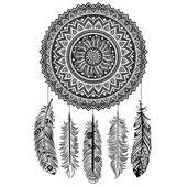 Etnik rüya avcısı — Stok Vektör