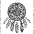 Ethnic Dream catcher - Vettoriali Stock