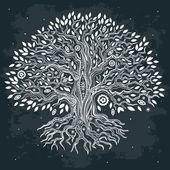 Beautiful vintage hand drawn tree of life — Stock Vector