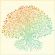 Beautiful vintage hand drawn tree of life — Stock Vector