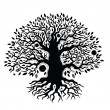 Beautiful vintage hand drawn tree of life — Vector de stock  #26061905