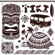 Vintage Aloha Tiki illustration — ベクター素材ストック