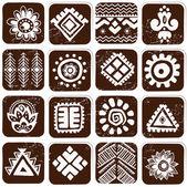 Abstrakte tribal Muster — Stockvektor