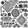 Tribal vintage ethnic pattern set — Grafika wektorowa