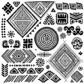 Tribal vintage ethnic pattern set — Vecteur