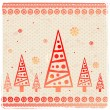 Vintage Christmas set of design elements — Vektorgrafik