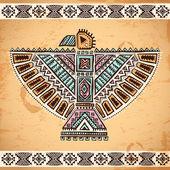 Tribal native American eagle symbols — Stock Vector