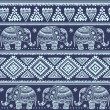 Ethnic elephant seamless — Vector de stock  #36042193