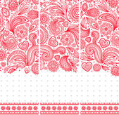 Beautiful floral set of banners — Vecteur