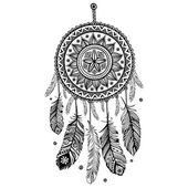Ethnic American Indian Dream catcher — Stock Vector