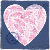 Beautiful Valentine's day heart — Stock Vector