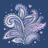 Beautiful Indian floral ornament — 图库矢量图片