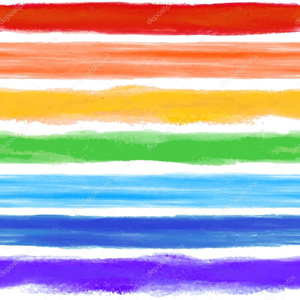 Fond arc en ciel aquarelle avec quelques rayures — Image vectorielle ...