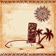 Vintage Tiki illustration — Stock Vector