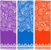 Beautiful floral set of banners — Stok Vektör