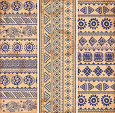 Vintage ethnic set of banners — Stockvector