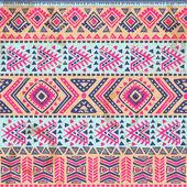 Vendimia tribal étnica sin costuras — Vector de stock