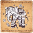 Vintage elephant illustration — Stock Vector #46187697