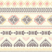 Tribal vintage ethnic seamless — Stockvektor
