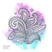 美丽的印度花卉装饰 — 图库矢量图片