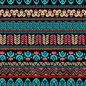 Tribal vintage ethnic seamless — Stock Vector