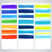 Set of watercolor banners — Vector de stock